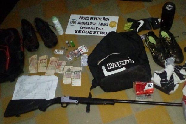 Tres detenidos tras persecución en Viale