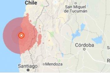 Fuerte sismo en Chile.