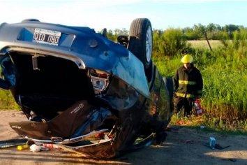 Una mujer murió luego de volcar a bordo de su auto en Villaguay