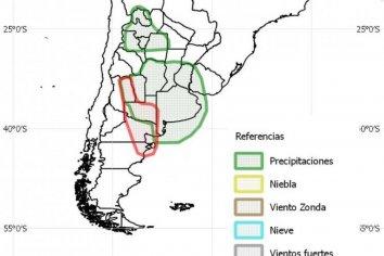 Prevén cinco días de lluvias y hasta 80 mm para Entre Ríos y Santa Fe
