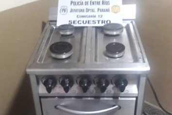 Recuperaron cocina que había sido robada en una escuela Paranaense