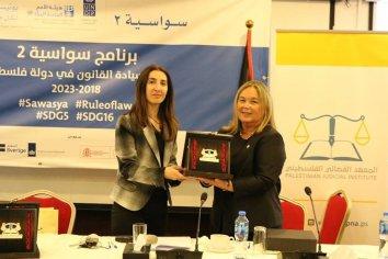 La Dra. Susana Medina destacó el debate con juezas palestinas