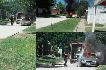 Incendiaron el auto del detenido