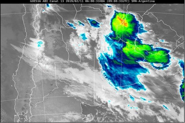 Alerta Meteorológica para parte de la provincia Entre Ríos