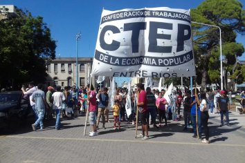 CTEP marchó hacia Desarrollo Social municipal