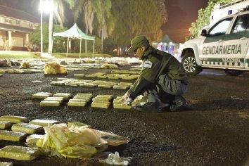 Golpe al narcotrafico: Se secuestraron casi dos toneladas de marihuana en los últimos días en Misiones