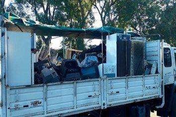 Trasladaron casi 10 toneladas de residuos electrónicos para reciclar