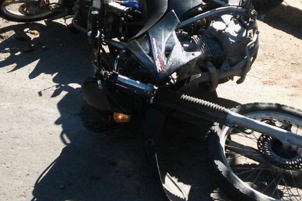 Accidente de transito entre dos motos