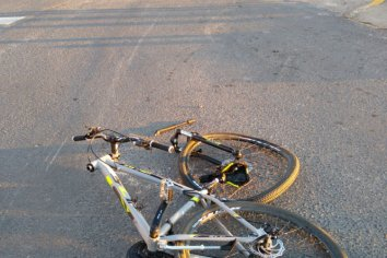 Ciclista accidentado en Oro Verde