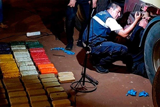 AFIP incautó droga por mas de 700 mil dolares ocultos en un camión