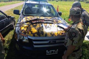 Secuestro de arma de fuego y cartucheria  en un vehículo que viajaba por Entre Rios