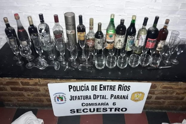 Detenidos por robar bebidas