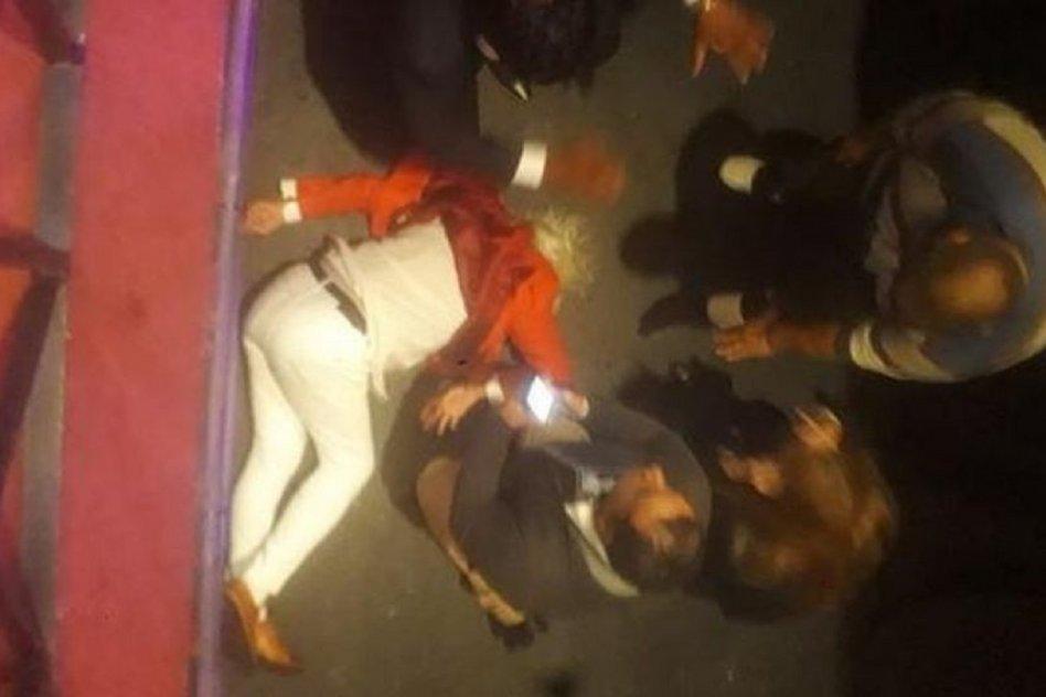 Así encontraron a Sergio Denis tras caer del escenario - Noticias   La voz 90.1