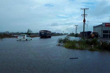Villa Elisa: Cayeron más de 240 milímetros y causó inconvenientes