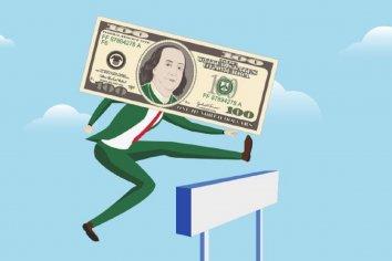 El dólar saltó 50 centavos pese a que la tasa anotó una leve suba