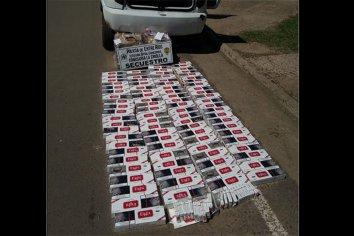 900 paquetes de cigarrillos fueron secuestrados