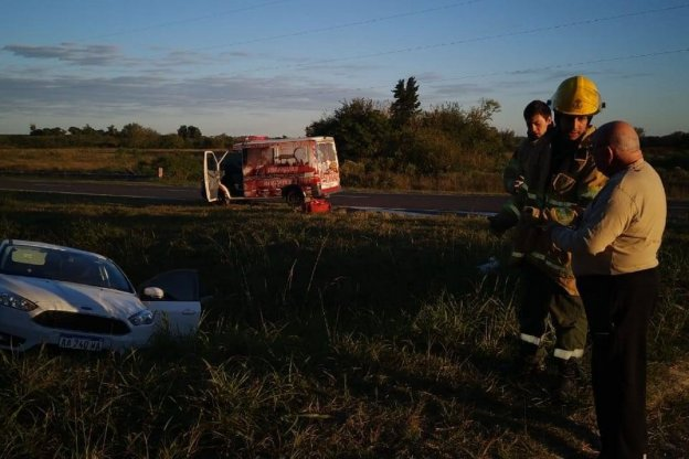 Accidente de transito con lesionados leves