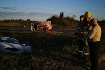 Accidente de transito con lesionados leves