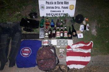 Jóvenes robaron alcohol de una vivienda