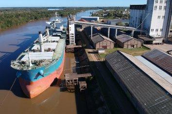 Se embarcaron 24 mil toneladas de arroz a granel desde Concepción del Uruguay