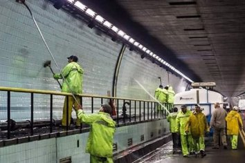 Se restringirá el tránsito en el Túnel por tareas de limpieza