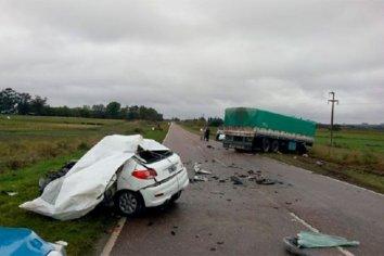 Fatal accidente en la ruta que une Crespo y Villa Libertador San Martín