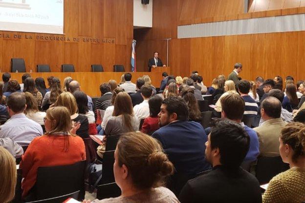 Castrillon inauguró las Jornadas sobre el amparo y otros procesos constitucionales.