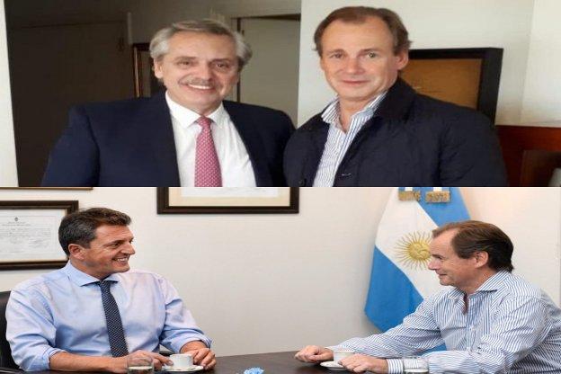 El reelecto gobernador Bordet se reunió con Alberto Fernández y Sergio Massa