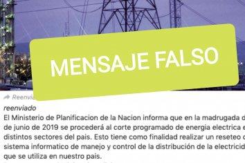 Alerta por fake news: se viralizó un falso mensaje sobre nuevo corte de energía programado para este martes.