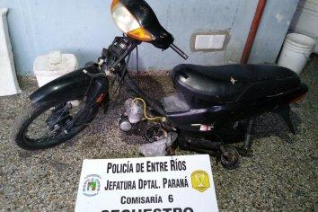 Robaron una moto de un taller pero la policía la recuperó