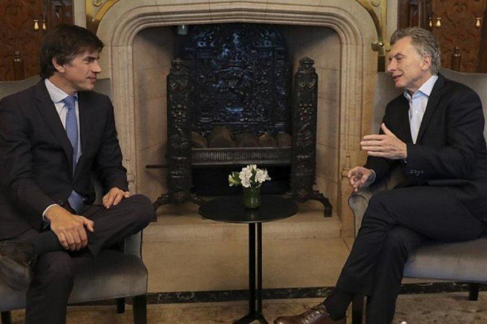 Horacio Reyser junto a Mauricio Macri