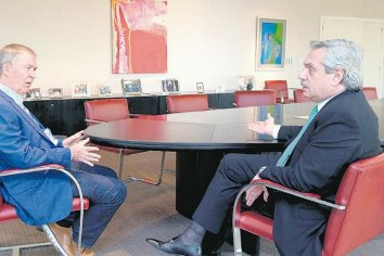 Alberto Fernández se reunió con Schiaretti