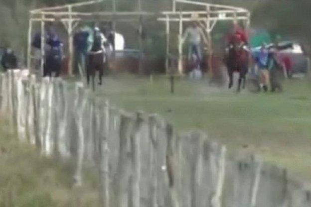 Obligaron a un caballo a correr quebrado y lo mataron de un tiro: El vídeo