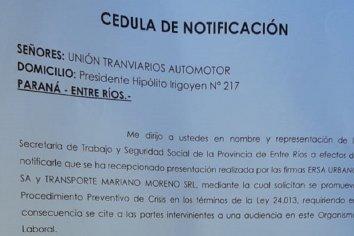 Se levantó el paro de colectivos urbanos: la  Secretaria de Trabajo notificó a UTA