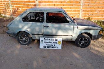 Policía encontró un vehículo robado