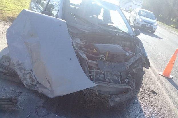 Accidente de transito a la salida de Crespo