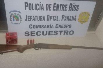 Allanamiento y secuestro de un arma de fuego