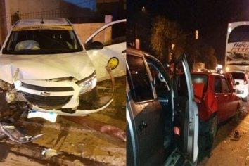Hubo dos violentos choques en la misma esquina de Paraná
