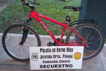Recuperaron una bicicleta que había sido  robada