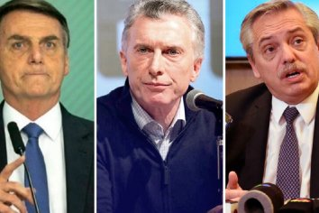 Bolsonaro mandó a su vice a la asunción de Alberto Fernández