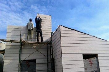 En Ubajay se construyen 10 viviendas de madera financiadas por la provincia