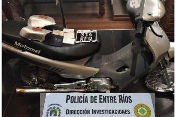 En diferentes procedimientos secuestraron motopartes y una motocicleta
