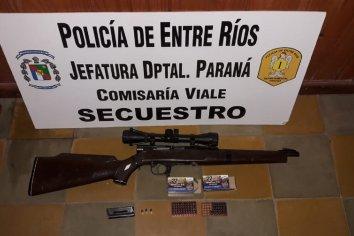 Allanamiento con secuestro de armas