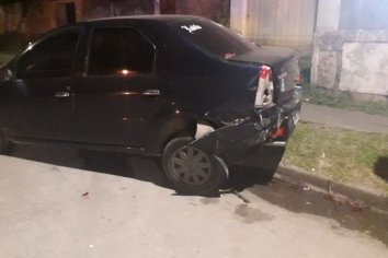 Accidente automovilístico en un barrio de Paraná