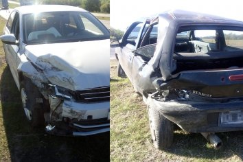 Fuerte colisión en el Acceso Norte de Paraná  tuvo lugar este domingo