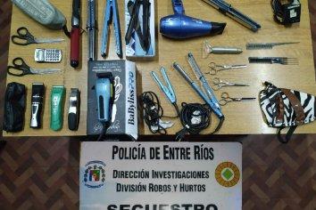 Recuperadon elementos robados de una peluquería