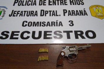 Detuvieron a un joven que portaba un arma de fuego