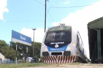 Se confirmaron los horarios del tren Colonia Avellaneda - Paraná
