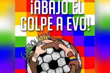 Futbolistas unidxs en apoyo a Evo Morales