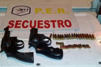 Detenidos, secuestro y abuso de armas de fuego